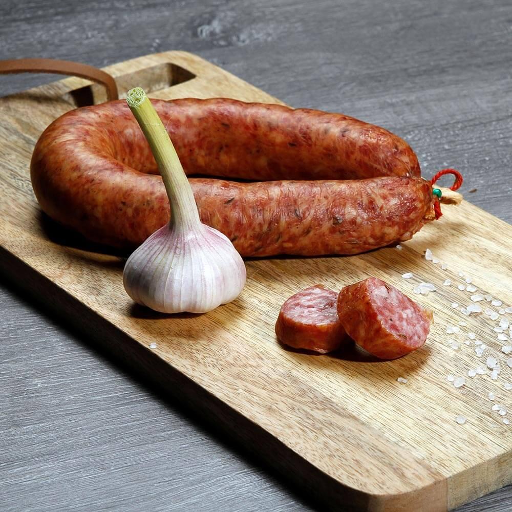 Knackwurst mit Knoblauch